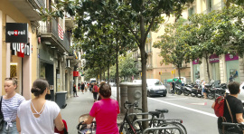 Gran de Gràcia Street, one of the commercial hubs in Gracia District.