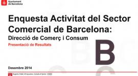 Enquesta d'activitat del sector comercial de Barcelona 2014