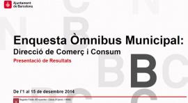 Enquesta Òmnibus Municipal de Comerç 2014