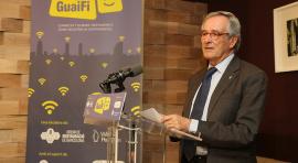 Presentació de l'alcalde de Barcelona de la xarxa wifi dels locals de restauració