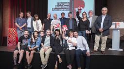 Professionals i familiars dels tres restaurants guanyadors del I Premi Barcelona Restauració