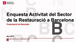 """Imagen de la portada del documento """"Encuesta del sector de la restauración de Barcelona"""""""