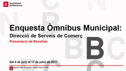 """Front page of the """"Òmnibus Municipal"""". July 2017"""