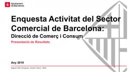 Enquesta d'activitat del sector comercial de Barcelona