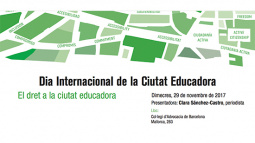 """The """"Commerce and Schools"""" experience is presented at the conference on """"The right to an Educating City"""""""