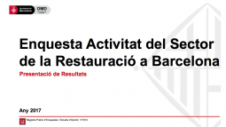 "Image from the front page of the ""Survey on Barcelona's Restaurant Sector Activity"""