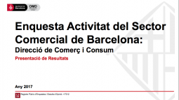 "Image from the front page of the ""Survey on Barcelona's Commercial Sector Activity"" document"