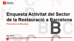 """Image from the front page of the """"Survey on Barcelona's Restaurant Sector Activity"""""""