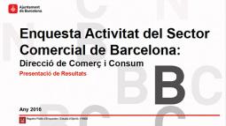 Portada de l'Enquesta d'activitat del sector comercial de Barcelona