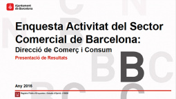 """Image from the front page of the """"Survey on Barcelona's Commercial Sector Activity"""" document"""