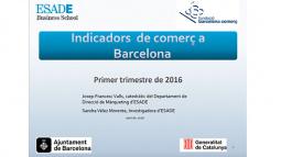 Portada document dels indicadors de comerç de Barcelona ICOB. 1r trimestre 2016