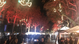 Christmas street lights in Barcelona.