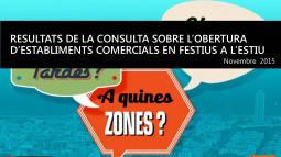 Resultados de la consulta sobre la apertura de establecimientos comerciales en festivos en verano