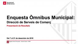 Omnibus municipal Comerç. Desembre 2018.