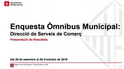 Omnibus Municipal de Comercio. Septiembre 2018