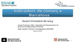 Portada del documento indicadores de comercio de Barcelona ICOB