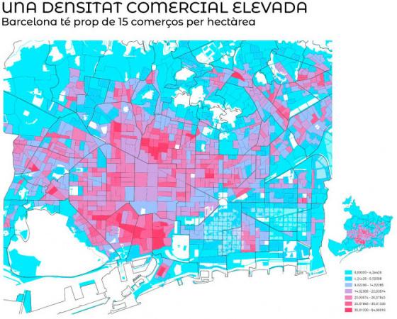 Una densitat comercial elevada
