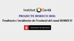 """Portada del """"Projecte HORECO 2010: tendències i incidències de l'evolució del canal HORECO"""""""