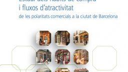 """Imagen de la portada del """"Estudio de hábitos de compra, flujos de entrada y el atractivo comercial en la ciudad de Barcelona"""""""