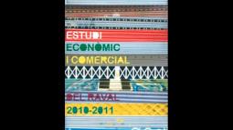 Portada del'Estudi econòmic i comercial del Raval 2010-2011