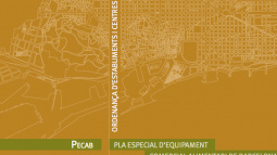 "Front cover of the document entitled ""PECAB.  2015 Barcelona Special Plan for Commercial Food Facilities"""