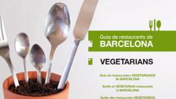 Portada de la Guia de restaurants de Barcelona - Vegetarians 2a edició