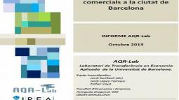 Portada de l'estudi sobre els efectes de la liberalització d'horaris comercials a la ciutat de Barcelona