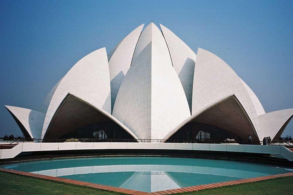 Temple del Loto. Casa d'Adoració de Nova Delhi (Índia).