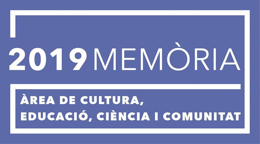 2019 - Memòria de l'àrea