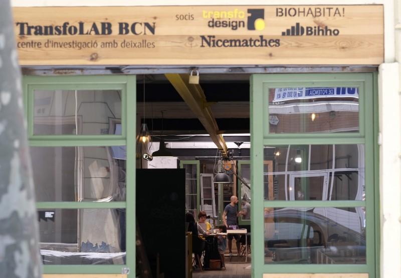 TransfoLAB BCN, centre d'investigació amb deixalles al Poblenou.