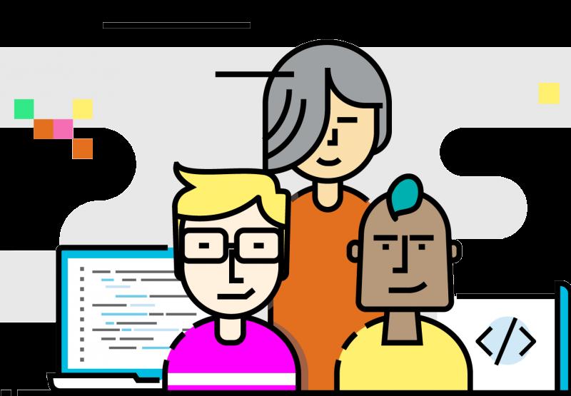 Ilustración oficial del proyecto Decode