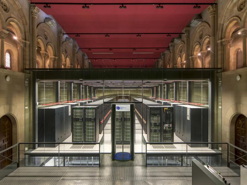 El ordenador Marenostrum, en el Barcelona Supercomputing Center.