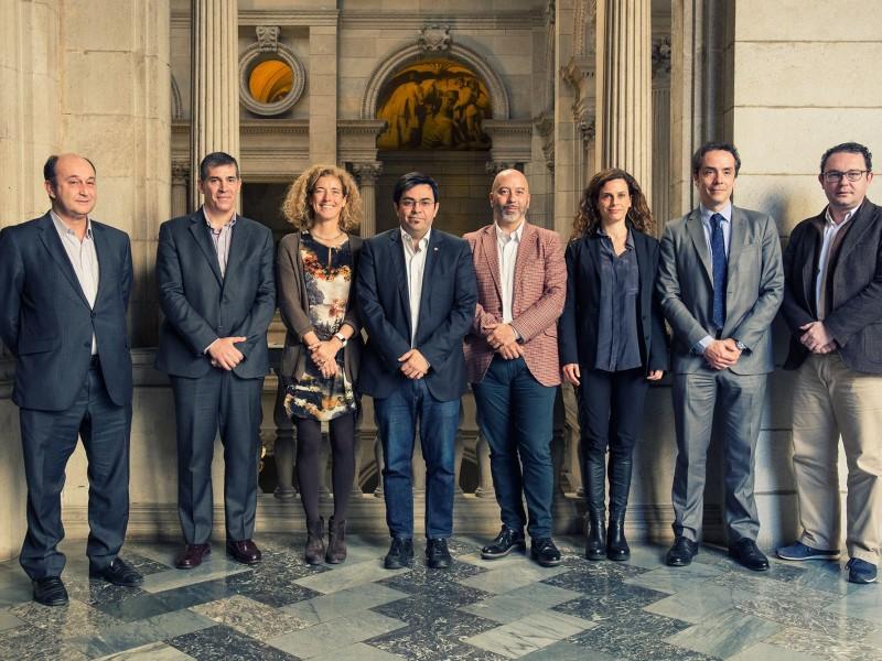Els signants de la Declaració de Barcelona per la inclusió social digital.