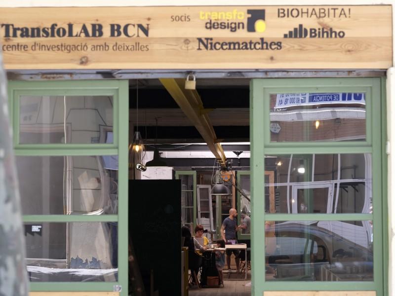 TransfoLAB BCN, centro de investigación con desechos en el Poblenou.