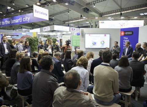 Presentació de DataCity Barcelona a l'Smart City Expo 2018.
