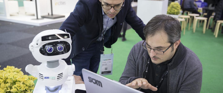 Estand de l'Ajuntament de Barcelona a l'Smart City Expo 2019.
