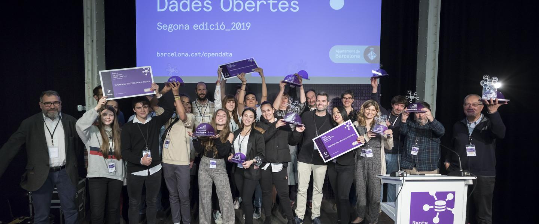 Els guanyadors de la segona edició del Repte Barcelona Dades Obertes.