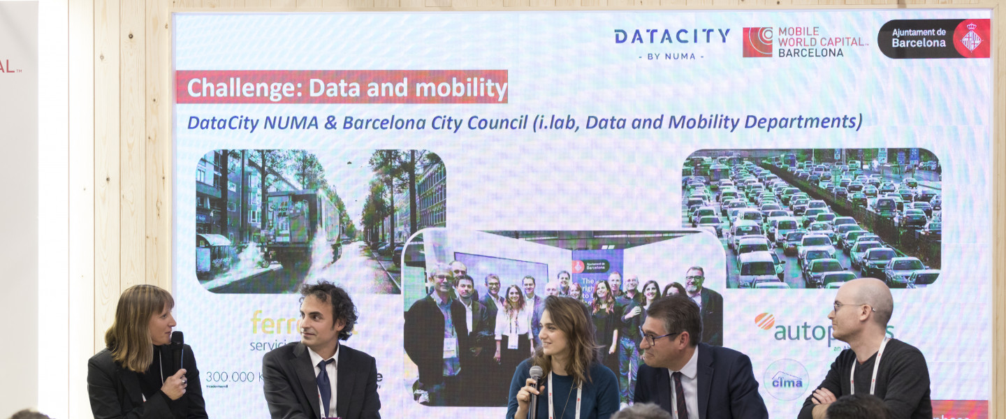 Presentació del projecte DataCity al Mobile World Congress 2018.