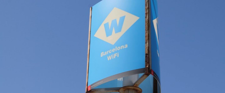 Antena wifi de l'Ajuntament de Barcelona.