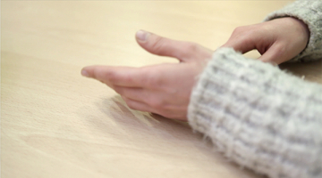 Photograph hands as a symbol of psychological accompaniment