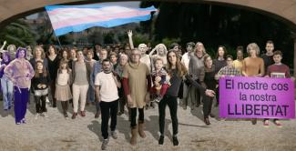 imatge manifestació octubre trans