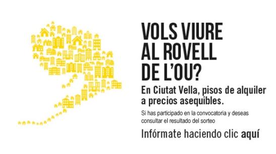 Promoción del Programa de viviendas de alquiler asequible en Ciutat Vella