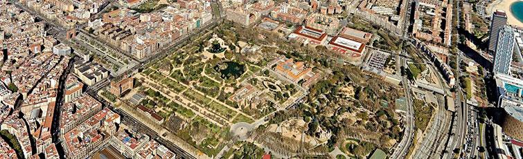Foto aèria del Parc de la Ciutadella