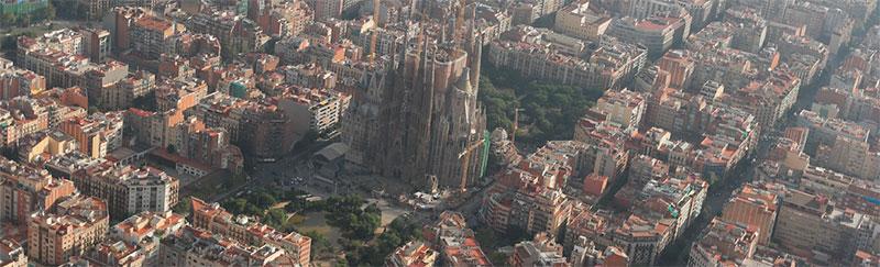 Vista aèria de la Sagrada Família