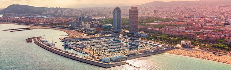 Panoramica Barcelona amb Port Olímpic