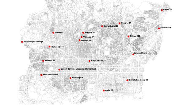 Ubicació espais en actiu edició 2012