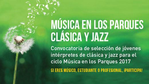 Convocatoria Música en los Parques 2017