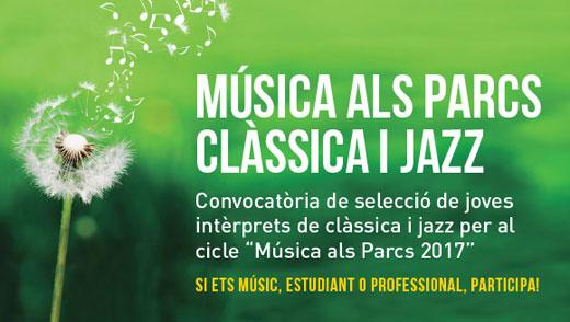 Convocatòria Música als parcs 2017