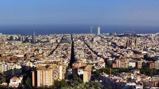Imatge panoràmica de Barcelona