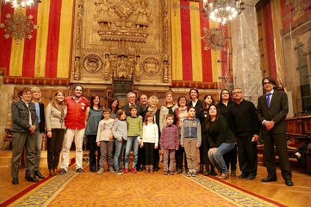 Els oradors amb l'Alcalde Xavier Trias i la Regidora Irma Rognoni